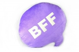 "BFF Chat Bubble 13"" Plush Throw Pillow by Throwboy"