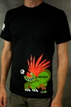 Blanka Street Fighter Vintage Black T-Shirt by Jorge R. Gutierrez
