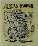 "Ed ""Big Daddy"" Roth Chevy Breakfast Of Champions! Original Decal Sticker"
