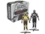 Set of 2 SDCC Exclusive Battlestar Galactica Cylon Figures with Tin Lunch Box