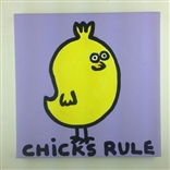 Chicks Rule Original Painting On Canvas By Artist Todd Goldman