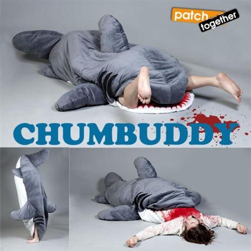 chumbuddy 2 shark sleepoing bag and designer plush