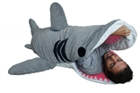 Chumbuddy 3 Adult 'Great White Edition' Shark Designer Plush Sleeping Bag