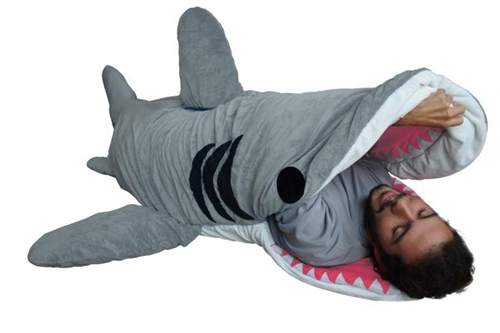 white edition 39 shark designer plush sleeping bag tainted visions