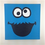 Cookie Monster Sesame Street Original Painting On Canvas By Artist Todd Goldman