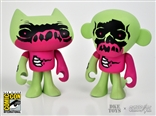 Crap Zombie SDCC 2013 Crappy Cat Flunk Monkey Vinyl Figure Set w/ Print Jamungo