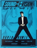 David Bowie Sound+Vision 1990 Poster Blue Edition