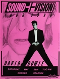 David Bowie Sound+Vision 1990 Poster Pink Edition