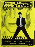 David Bowie Sound+Vision 1990 Poster Yellow Edition