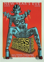 Jane's Addiction Poster Emek Signed Dated