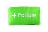 "Follow Button 15"" Plush Throw Pillow by Throwboy"