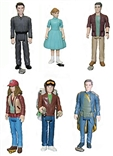 Disney Tomorrowland Set Of 6 Reaction Figures By Funko 3 3/4 Retro Action Figure