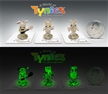 Glow In The Dark Pecan Pecanpals Tynies GID Mini Glass Figurine