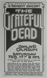 The Grateful Dead Signed Randy Tuten Poster Bill Graham Oakland Coliseum