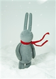 Flocked Gray Blowing in the Wind Petit Lapin Museum Designer Vinyl Figure Mr Clement