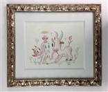 Grazing Original Sketch - Gary Baseman