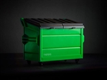DIY Green Desktop Dumpster