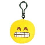 "Grin Emoji Throwbaby 3"" Plush Clip-On Keychain By Throwboy"