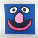 Grover Sesame Street Original Painting On Canvas By Artist Todd Goldman