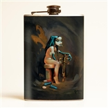 DetroitLand Happiness Retro Flask designed by Glenn Barr