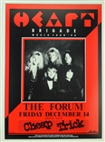 Heart Brigade World Tour Rock Concert Poster Michael Dole Avalaon Cheap Trick