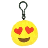 "Hearts Emoji Throwbaby 3"" Plush Clip-On Keychain By Throwboy"