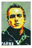 'Joe Strummer' Original Painting by artist Jason Adams