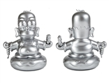 The Simpsons Homer Buddha Silver Edition Designer Vinyl Figure by Matt Groening and Kidrobot