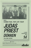 Kkdj Turbo Fuel For Life Tour Judas Priest Dokken Rock Concert Poster Avalon