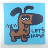 Let's Hump Original Painting On Canvas By Artist Todd Goldman