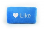 "Like Button 15"" Plush Throw Pillow by Throwboy"