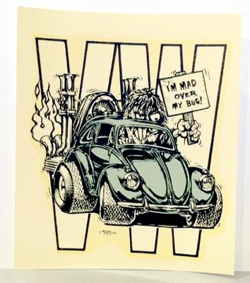 ed big daddy roth i 39 m mad over my vw bug 1966 decal. Black Bedroom Furniture Sets. Home Design Ideas