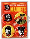 Mao 4 Piece Magnet Set Badge Bomb Frank Kozik