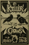 Killer Crows Rock Concert Poster Michael Dole Signed