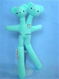 Mint Double Bear Designer Plush Teddy Bear Figure by Tyler Poncho