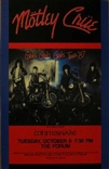 Motley Crue Girls Girls Girls Tour '87 Rock Concert Poster Avalon
