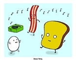 """Mr Toast Dance Party"" Original Screen Print by Dan Goodsell"