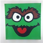 Oscar The Grouch Sesame Street Original Painting On Canvas Artist Todd Goldman