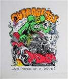 "Ed ""Big Daddy"" Roth Outrageous Rat Fink Signed & Numbered Art Silkscreen Print"