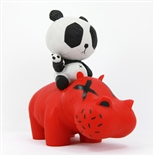 P.R.A.H. Panda Riding A Hippo Designer Vinyl Toy Figure By Cacooca