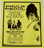 Paula Abdul Under My Spell Tour Rock Concert Poster Color Me Badd