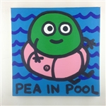 Pea In The Pool Original Painting On Canvas By Artist Todd Goldman