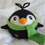 'Moe' Green Scarf Series 2 Pygmy Penguin Plush Figure