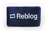 "Reblog Button 15"" Plush Throw Pillow by Throwboy"
