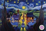 "Ron English ""Double Vision Starry Night"" Poster"