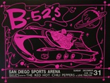 B-52's Poster - San Diego Concert