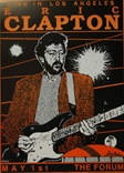 Eric Clapton Poster - Los Angeles Concert