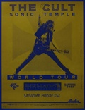 The Cult Sonic Temple World Tour Poster