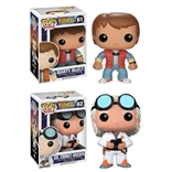 Set Of 2 Back to the Future Funko Pop Designer Vinyl Figures