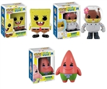 Set Of 3 Spongebob Squarepants Funko Pop Figures Patrick Star Sandy Cheeks